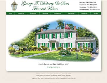 George F. Doherty & Sons Funeral Homes, Wellesley, Needham, Dedham and West Roxbury, MA